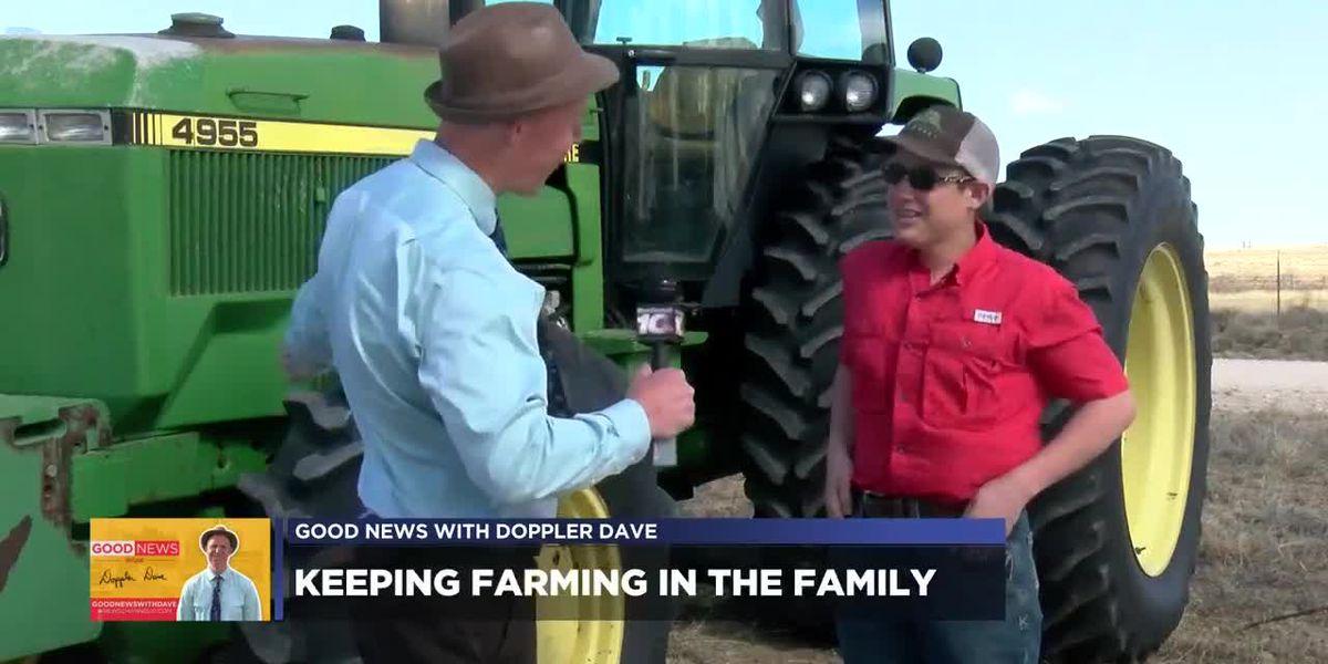 GOOD NEWS: Teen farmer harvests first wheat crop