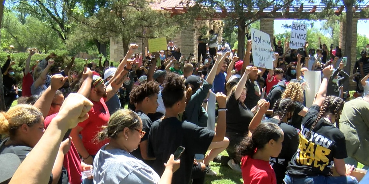 Peaceful protest and march held in Amarillo after death of George Floyd