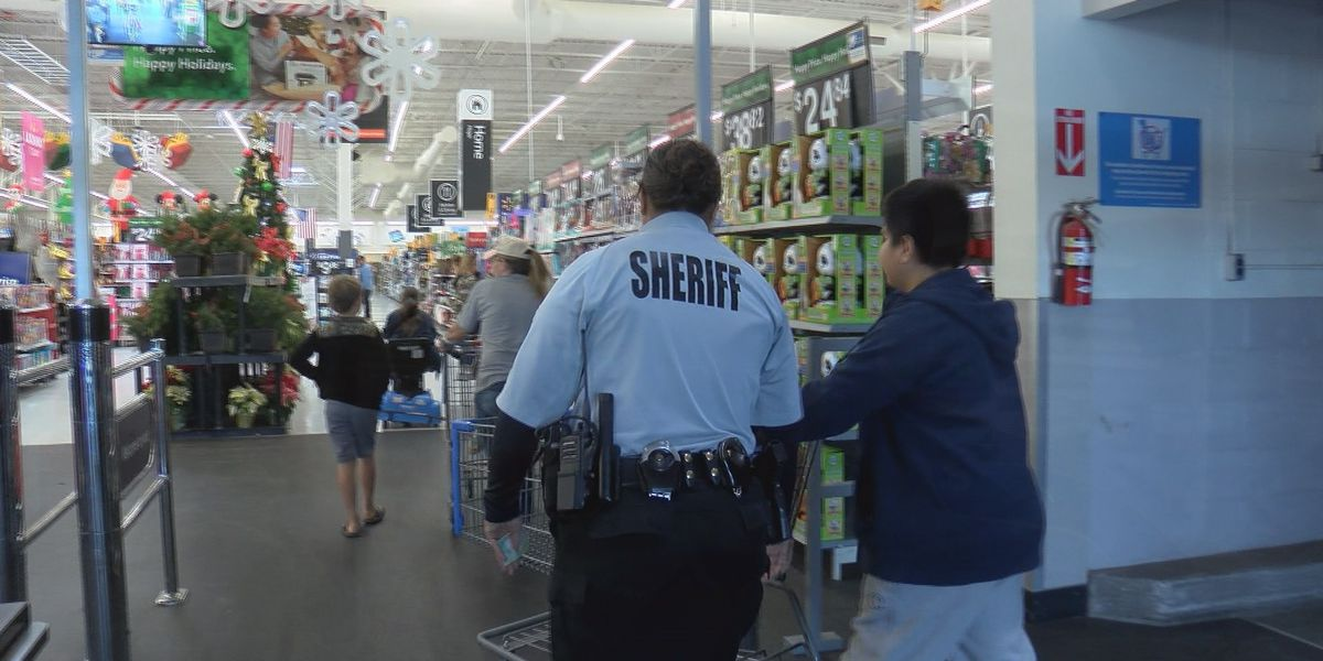 Local students get to 'Shop with a Sheriff' at Walmart
