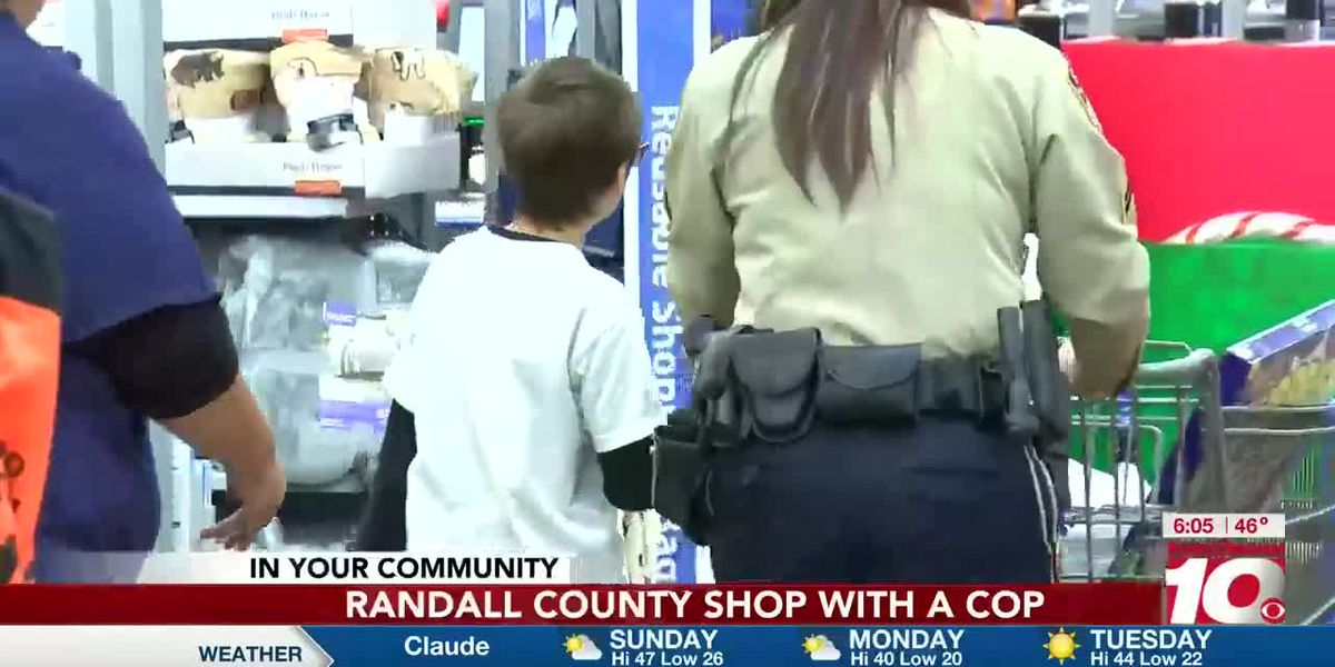 Randall County Shop with a Cop and Walmart provide early Christmas for area children