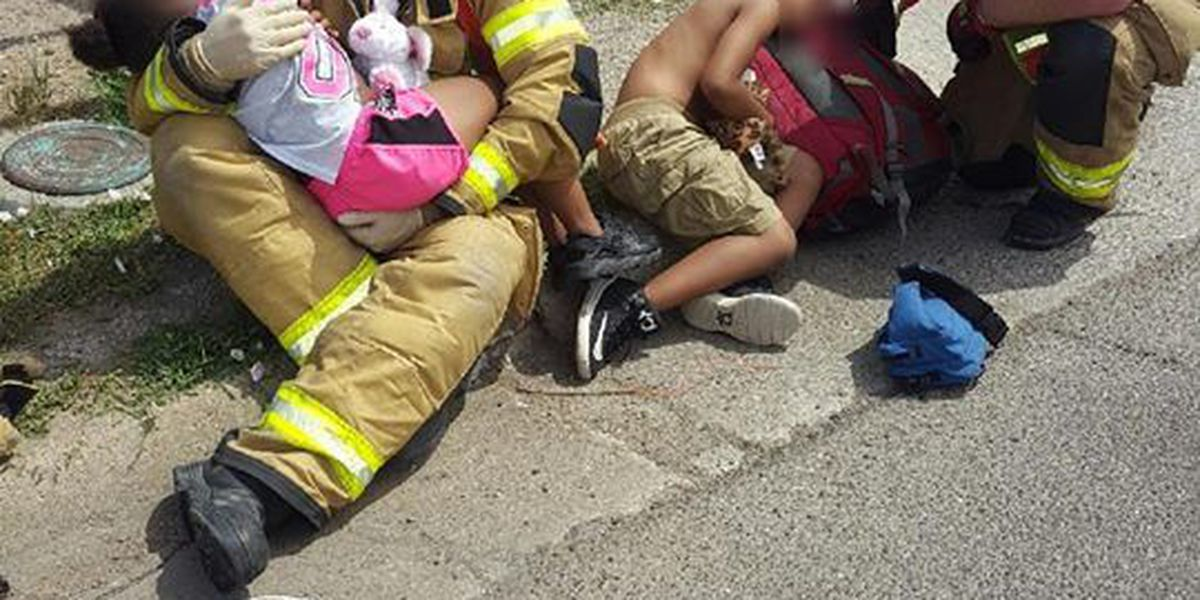 Viral photo of firefighters shows 'compassionate' side of job