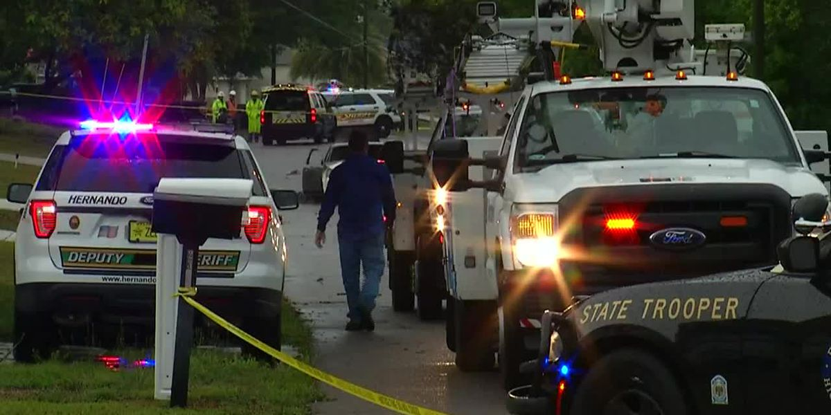 Teen killed by downed power line getting out of car on fire
