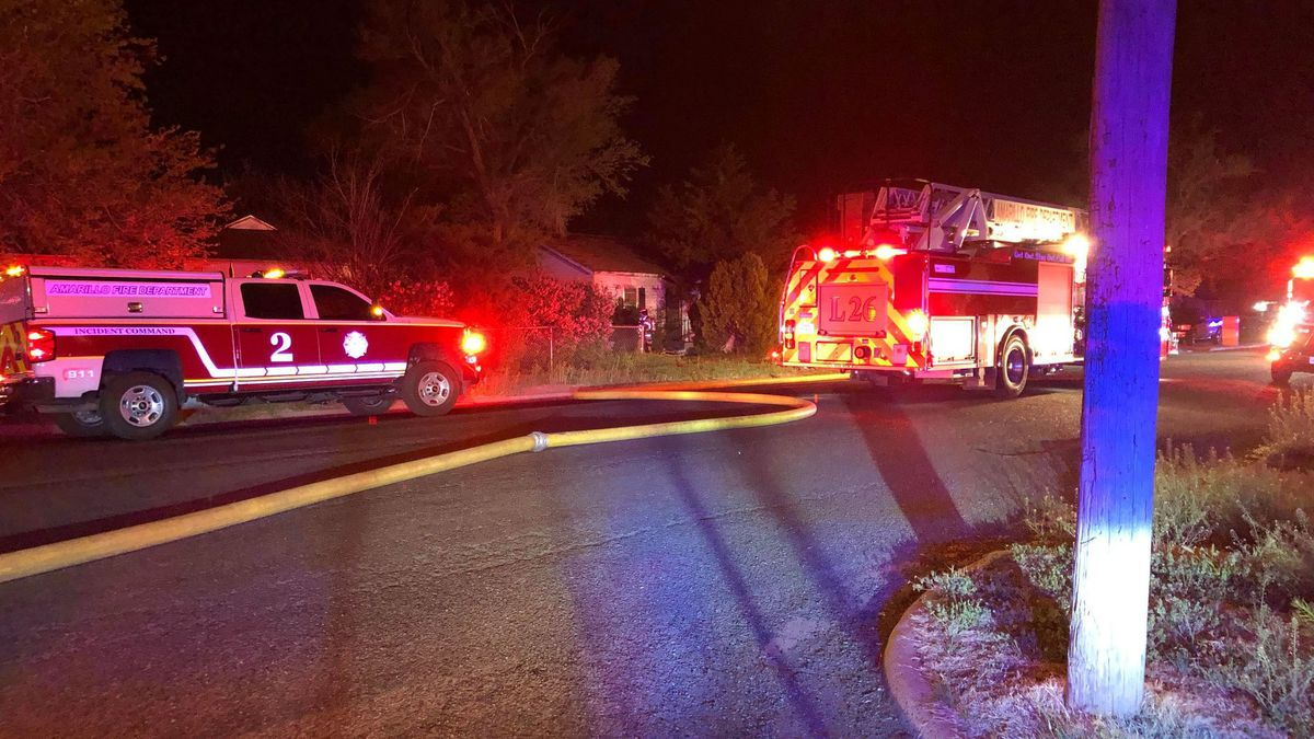 Crews extinguish blaze at abandoned Amarillo home