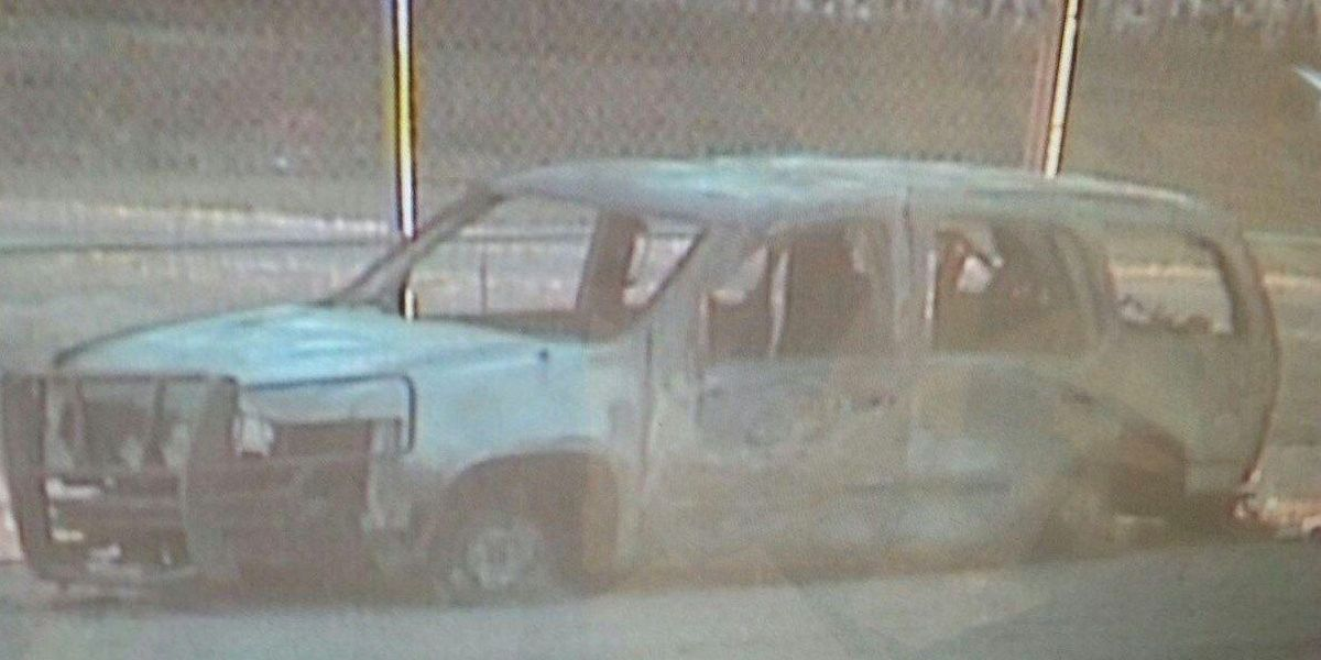 Deputies chase armed suspect: Emergency vehicles catch fire