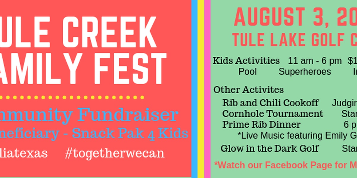 You're invited to the 2nd annual Tule Creek Family Fest in Tulia