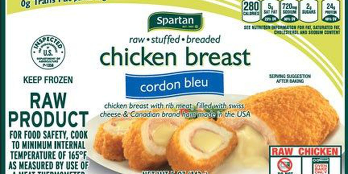 Aspen Foods recalling frozen, raw, stuffed and breaded chicken products