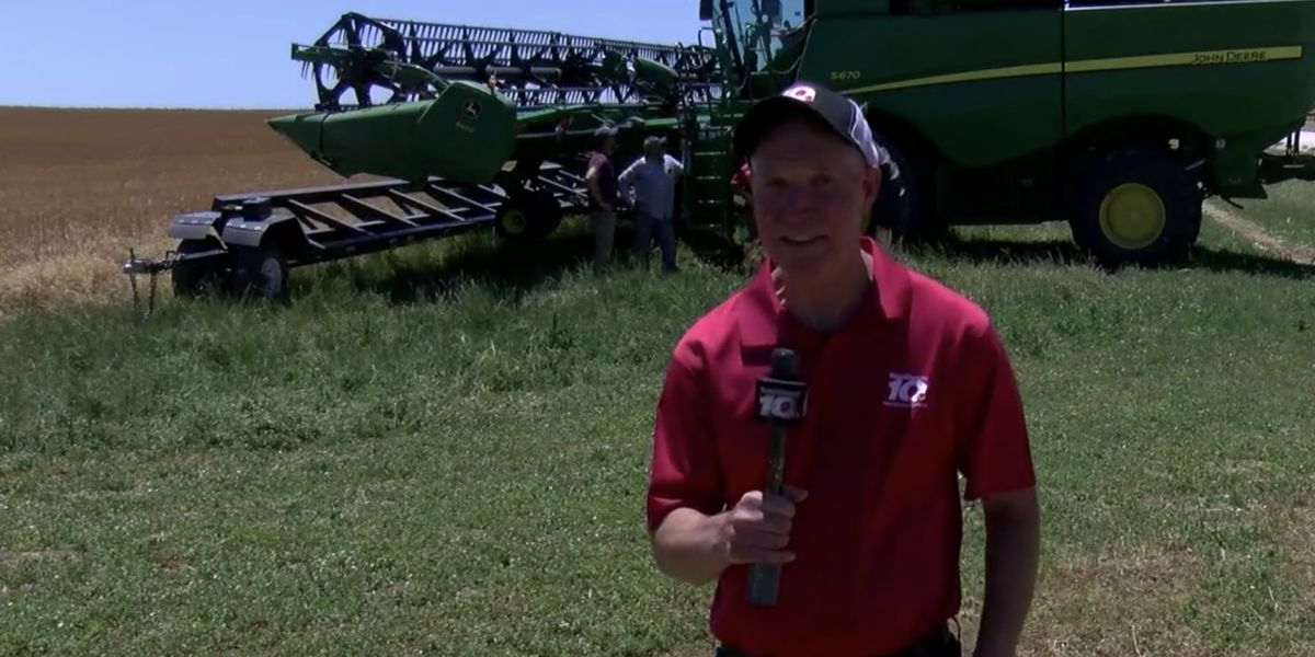 Doppler Dave checks driving a combine, harvesting wheat off his bucket list