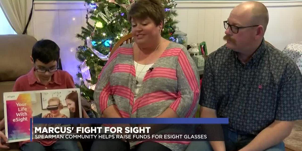 Spearman community supports boy's fight for sight