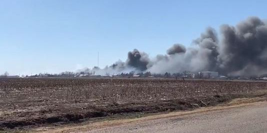 Grass fire near Pampa contained