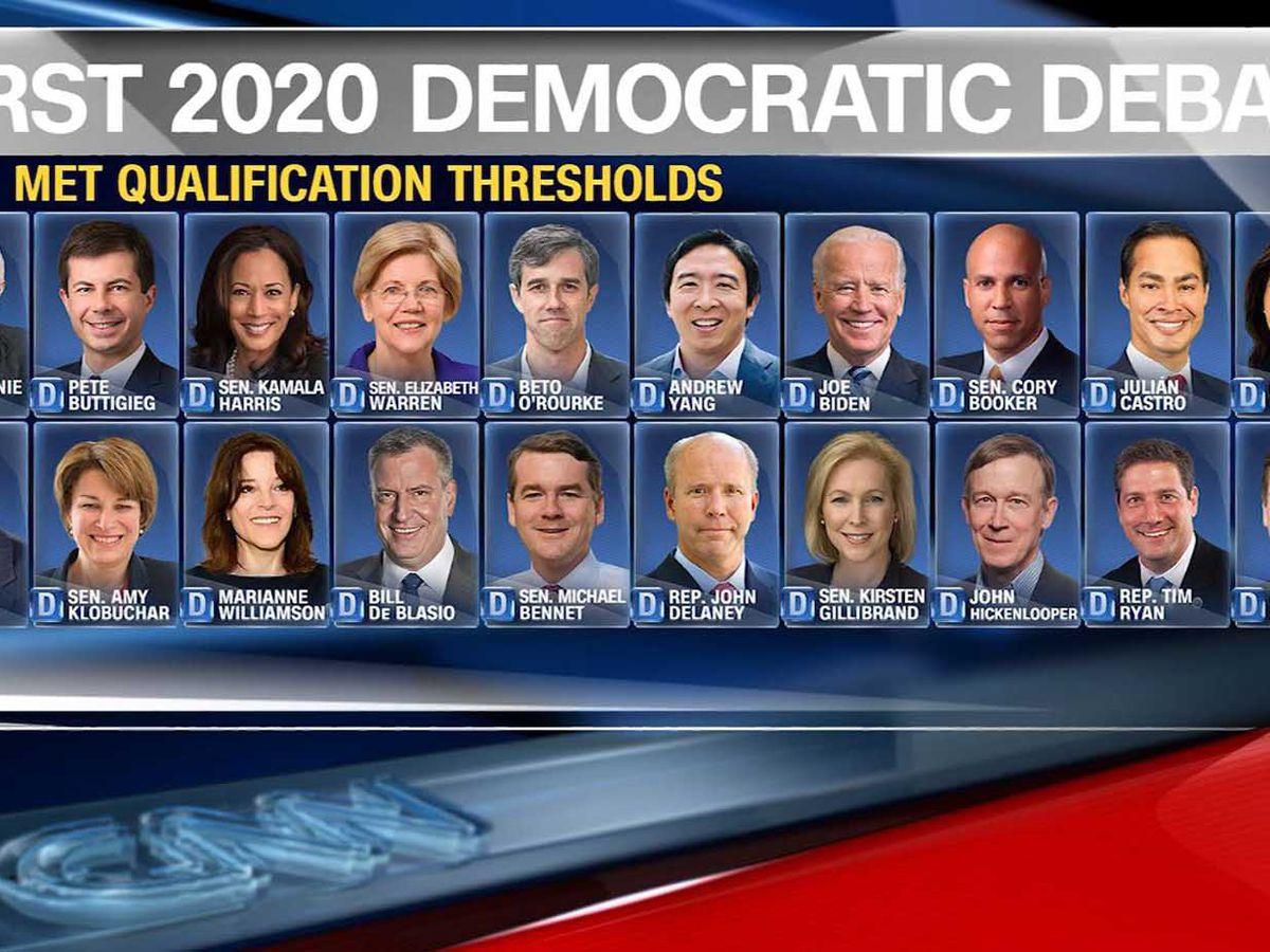 Dems announce debate candidates: de Blasio in, Bullock out