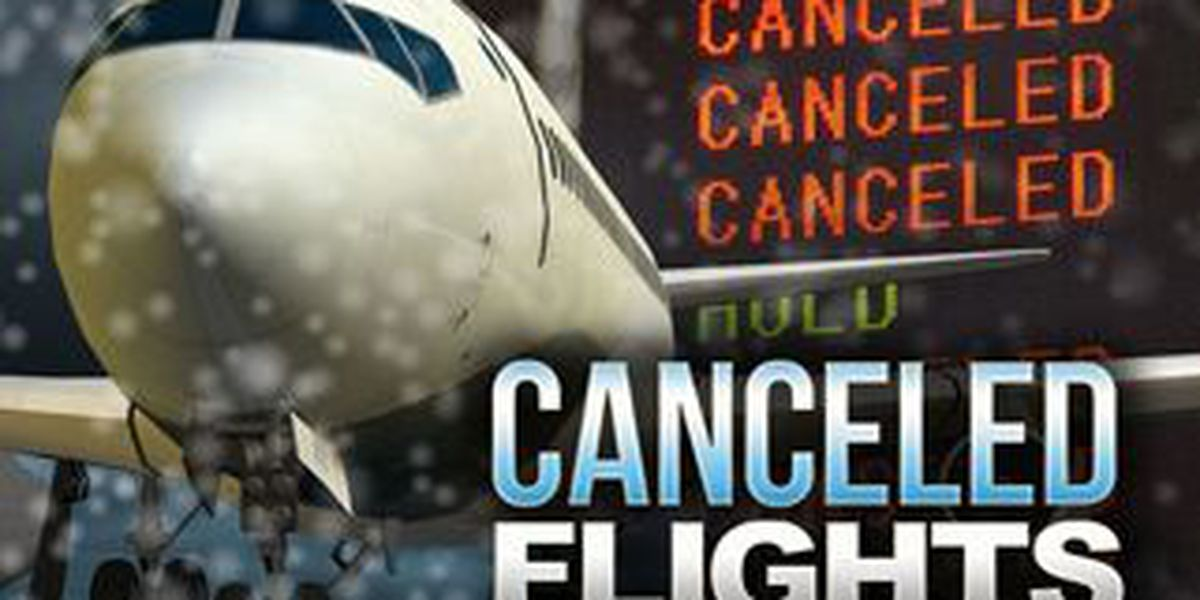 Hundreds of flights canceled ahead of storm