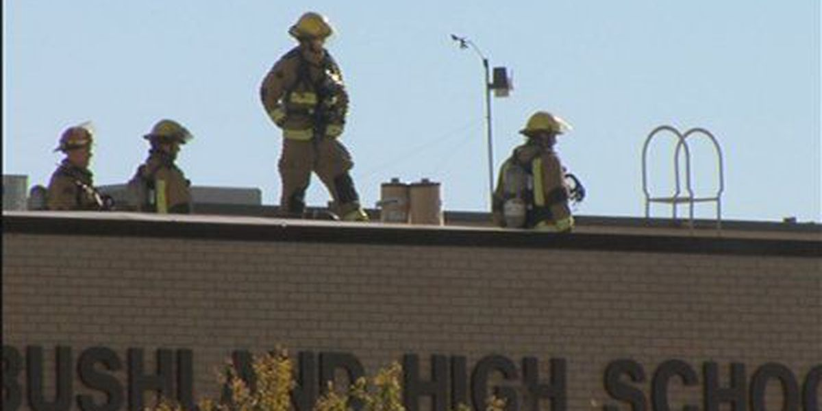 Fire officials investigating cause of fire at Bushland High School Auditorium
