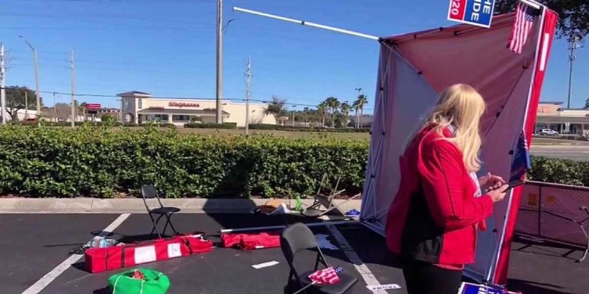 Driver plows through GOP voter registration tent in Florida; suspect arrested
