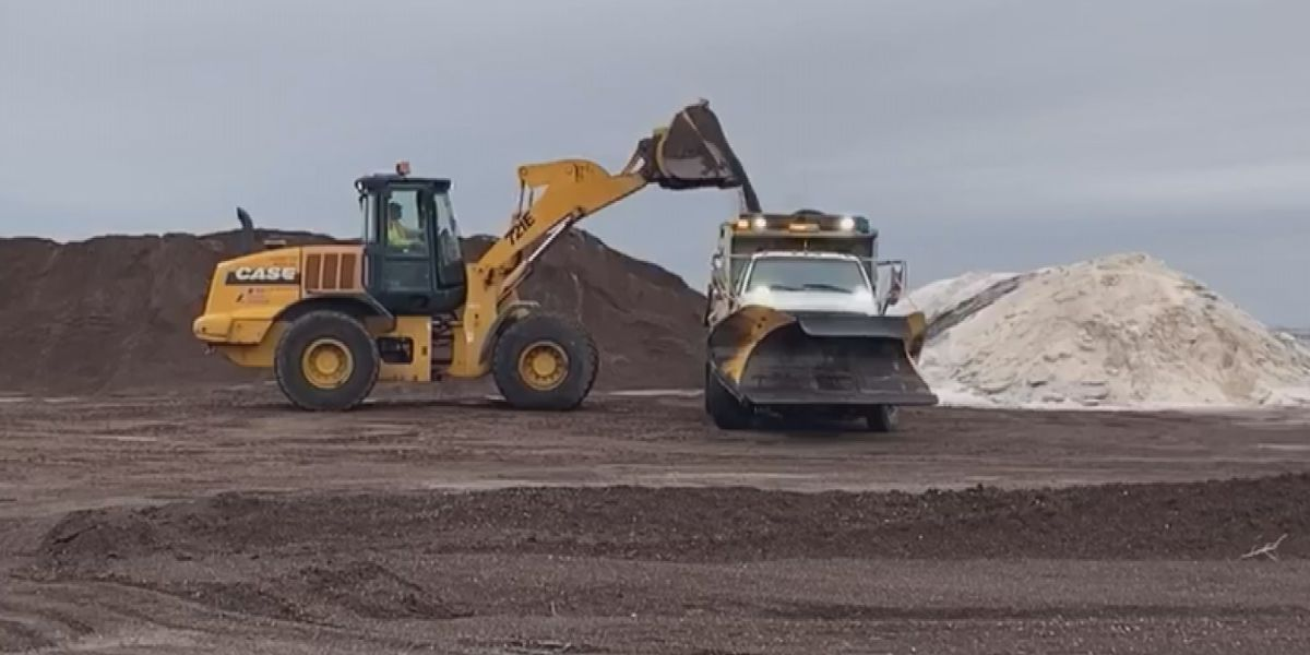 TxDOT keeping roads safe with brine treatment and sand mixture