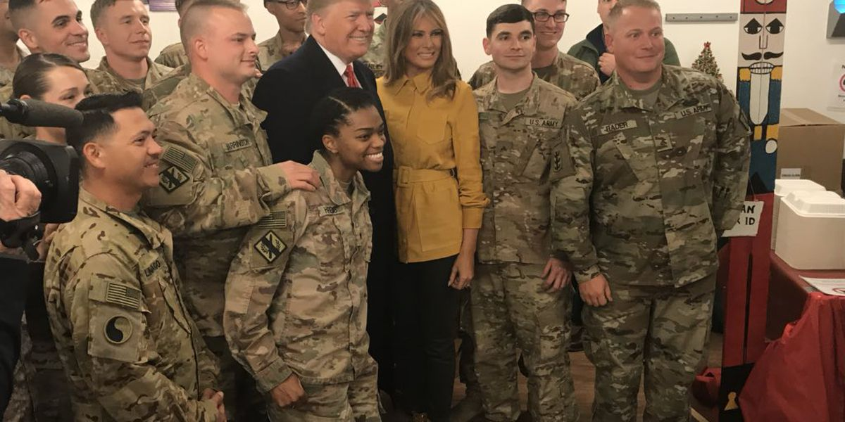 Trump, on surprise trip to Iraq: 'No plans at all' to pull troops from there