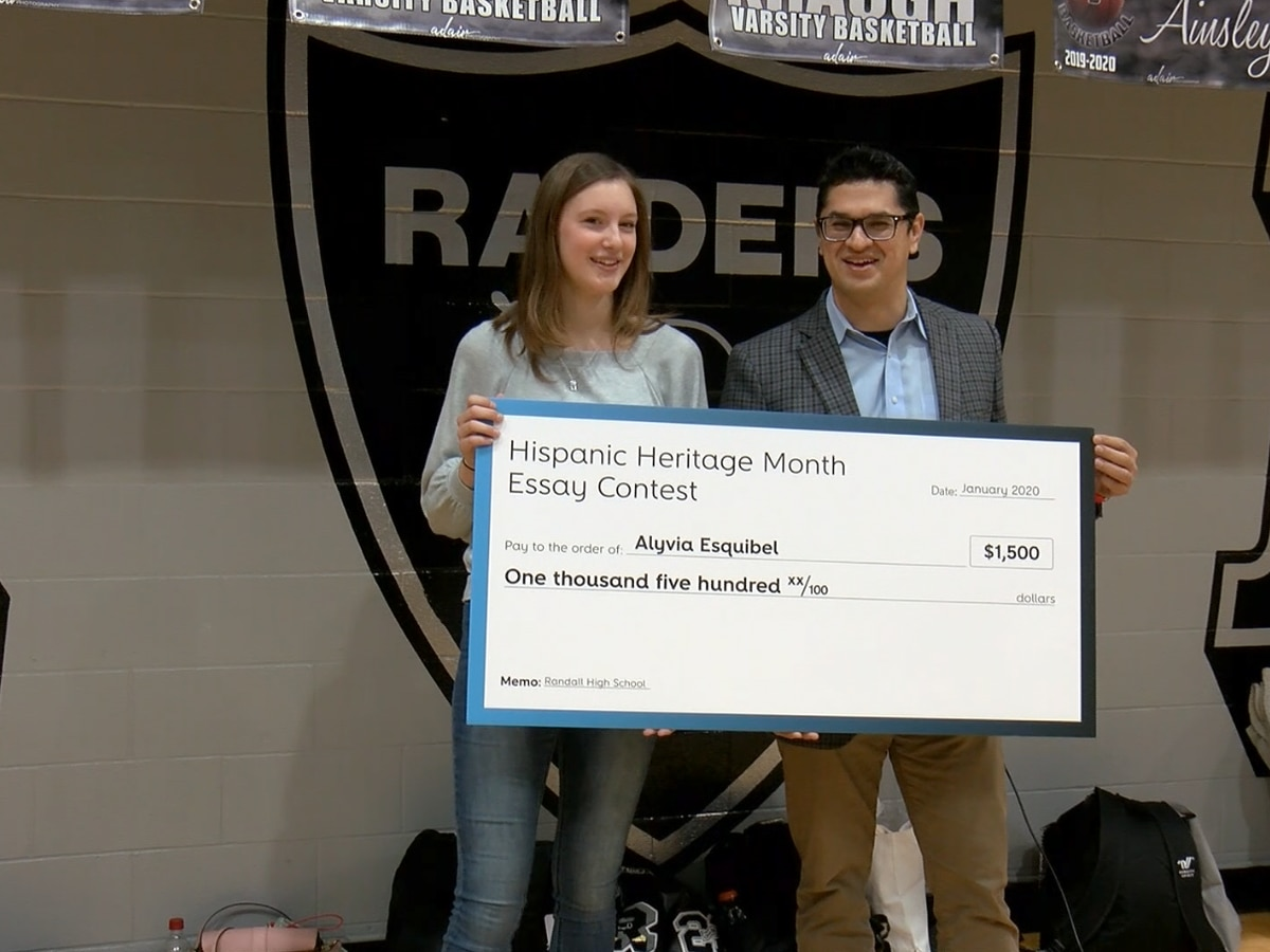 Randall High School student wins $1,500 Suddenlink scholarship for Hispanic Heritage essay