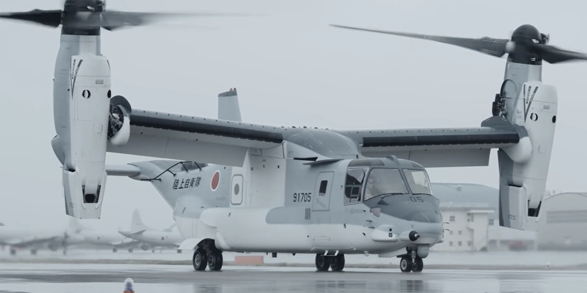 United States delivers first Bell Boeing V-22 Osprey to Japan