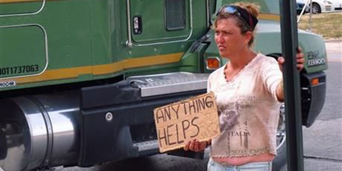 Texas officers suspended for homeless sign contest