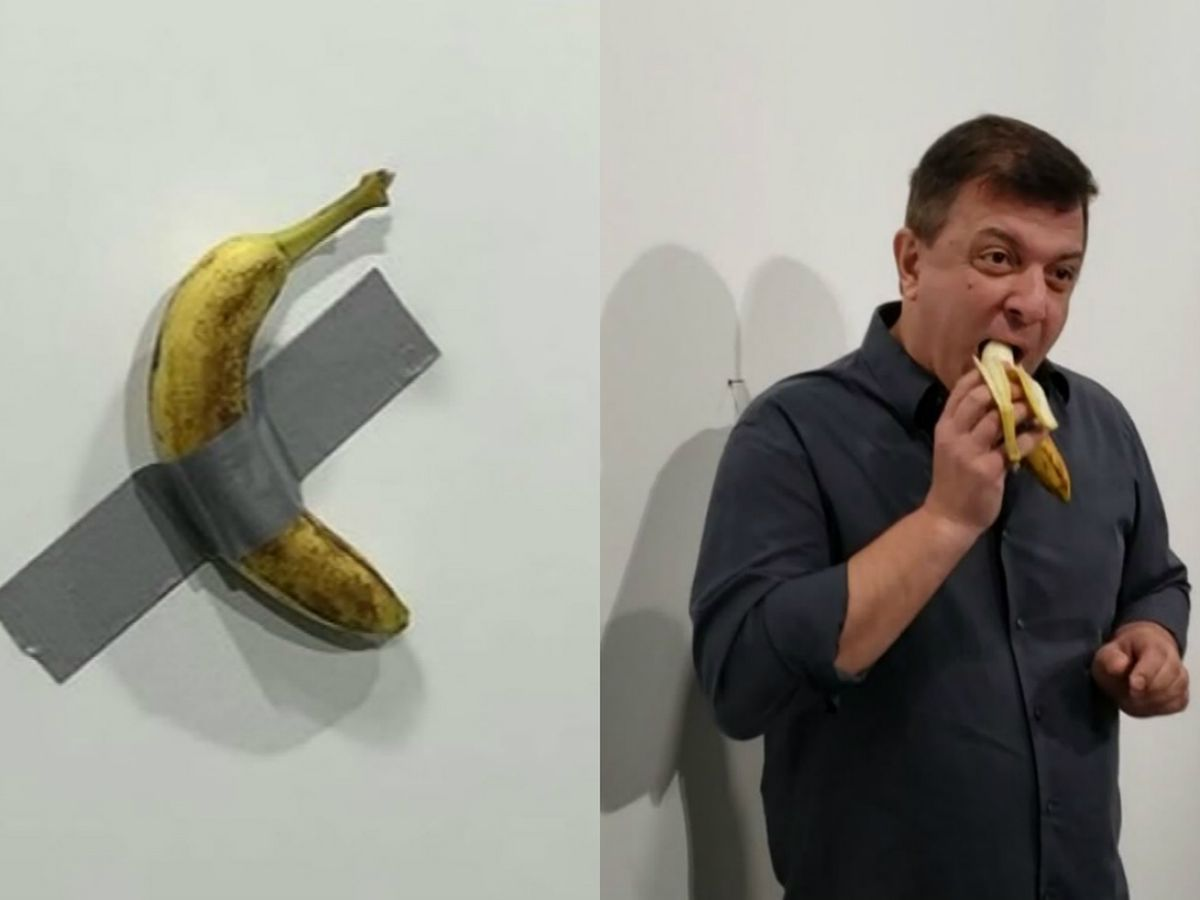 Someone ate the duct-taped banana 'art' that sold for $120K
