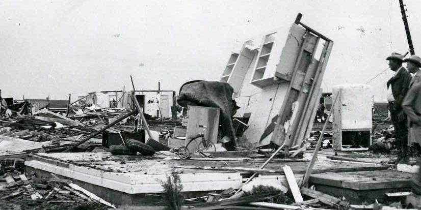 The 1949 tornado revisited: The twister by the numbers