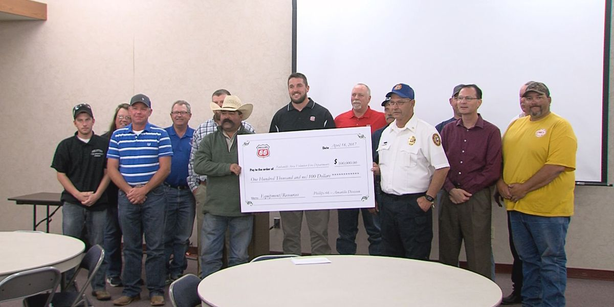 Phillips 66 donates $100,000 to area fire departments