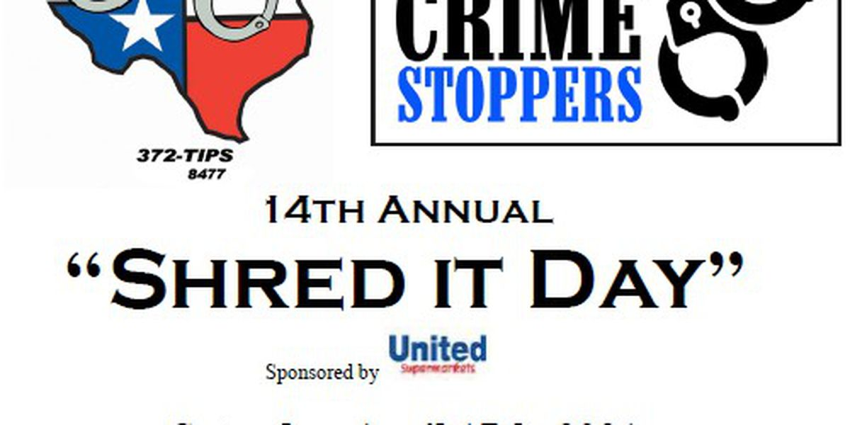 Amarillo Crime Stoppers to host 14th Annual Shred It Day this weekend