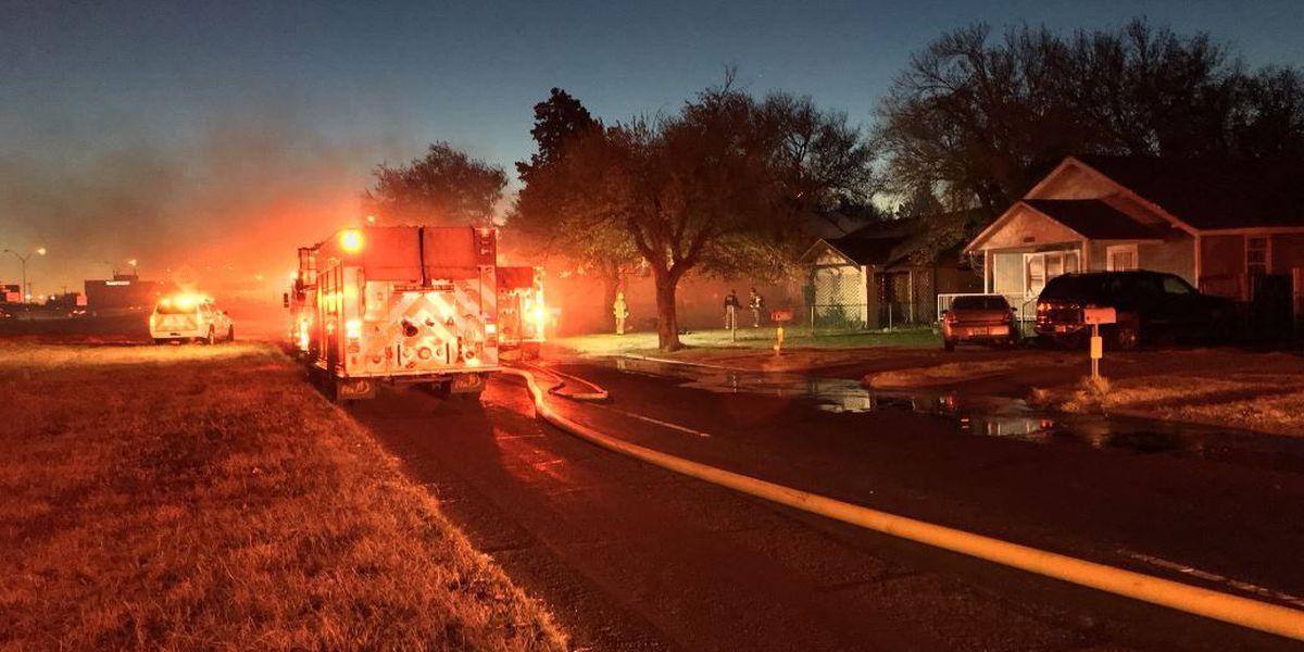 Amarillo fire crews work house fire at 1500 E I-40
