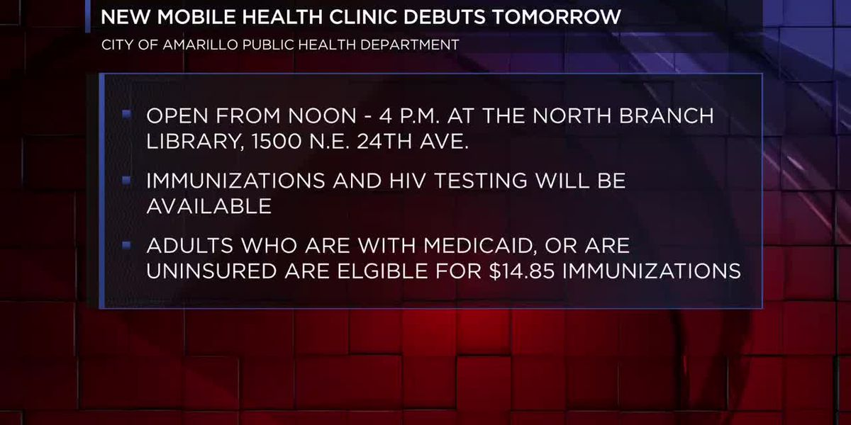 video: City of Amarillo debuting new mobile health clinic site