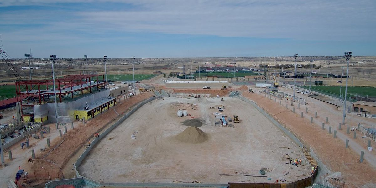 Construction of WTAMU Buffalo Stadium 60% complete