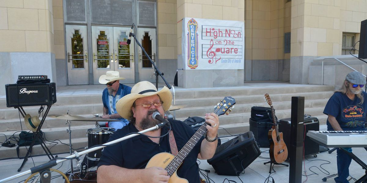 High Noon on the Square featuring Andy Chase as first performer