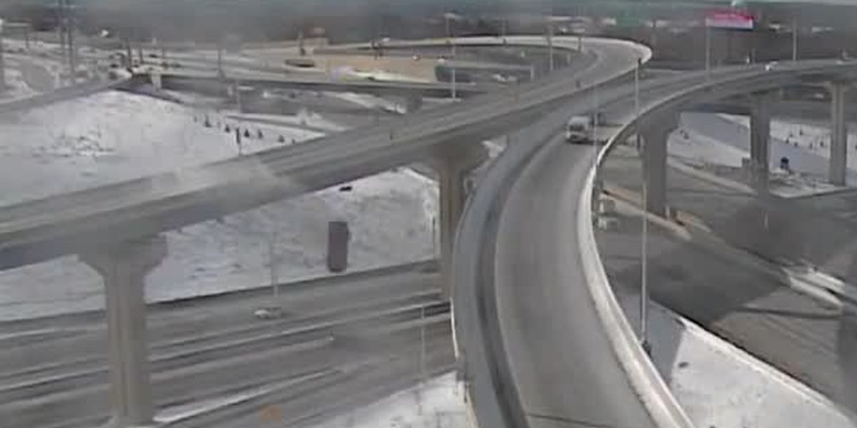VIDEO: Vehicle skids off interstate ramp near Milwaukee, falls 70 feet to ground