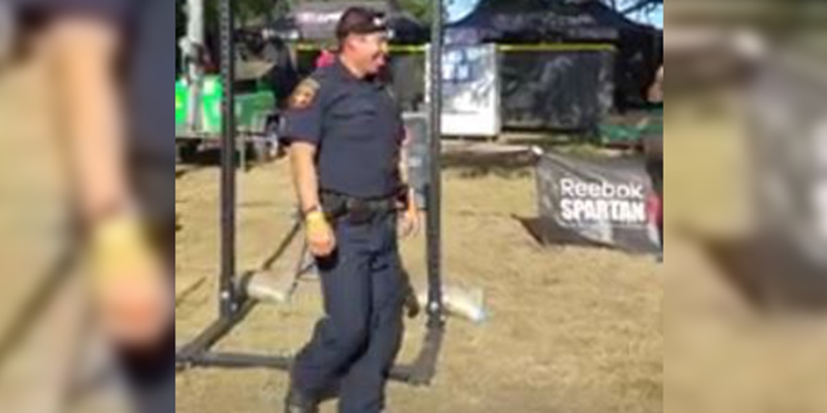 APD officer competes in Spartan competition in full uniform