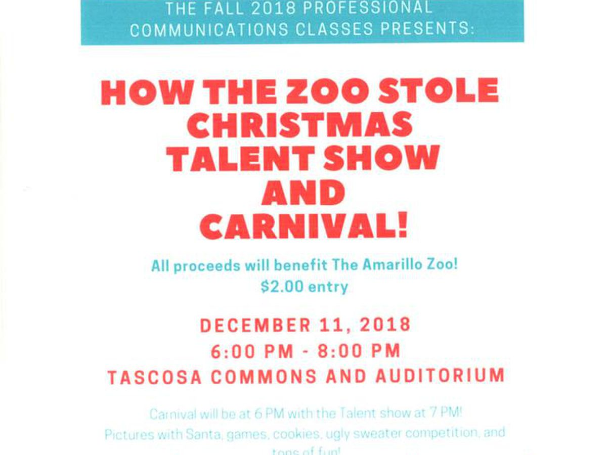 Tascosa High School presents carnival and show to benefit the Amarillo Zoo