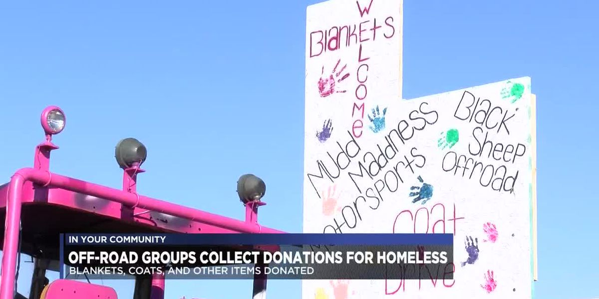 Off-road enthusiast groups collect donations for Amarillo's homeless
