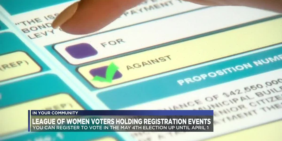 League of Women Voters holding voter registration drive this weekend
