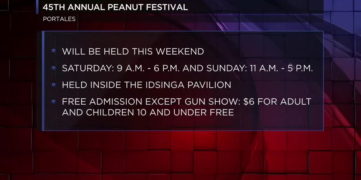 The 45th annual Peanut Valley Craft & Music Festival will begin October 20 to the 21 at the Roosevel