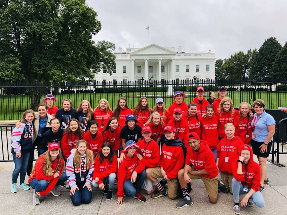 San Jacinto Christian Academy 8th graders tour White House on recent trip to D.C.