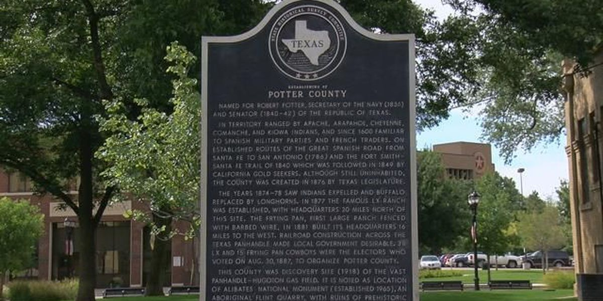 Markers tell the story of the foundation beneath Potter County