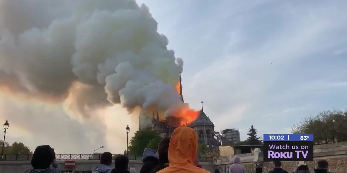 Oklahoma couple visiting Paris saw the Notre Dame fire in person