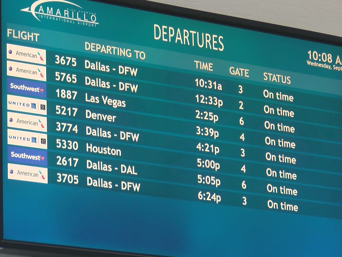 Jobs return to staff due to rise of air travel in Amarillo