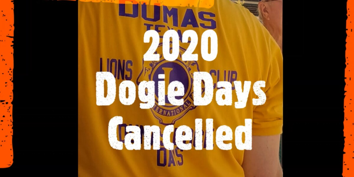 2020 Dumas Dogie Days cancelled due to COVID-19 restrictions