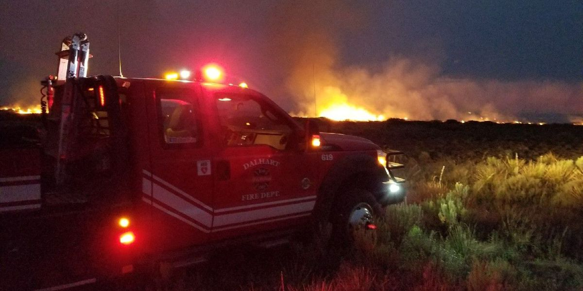 Lightning probable cause for wildfire last night