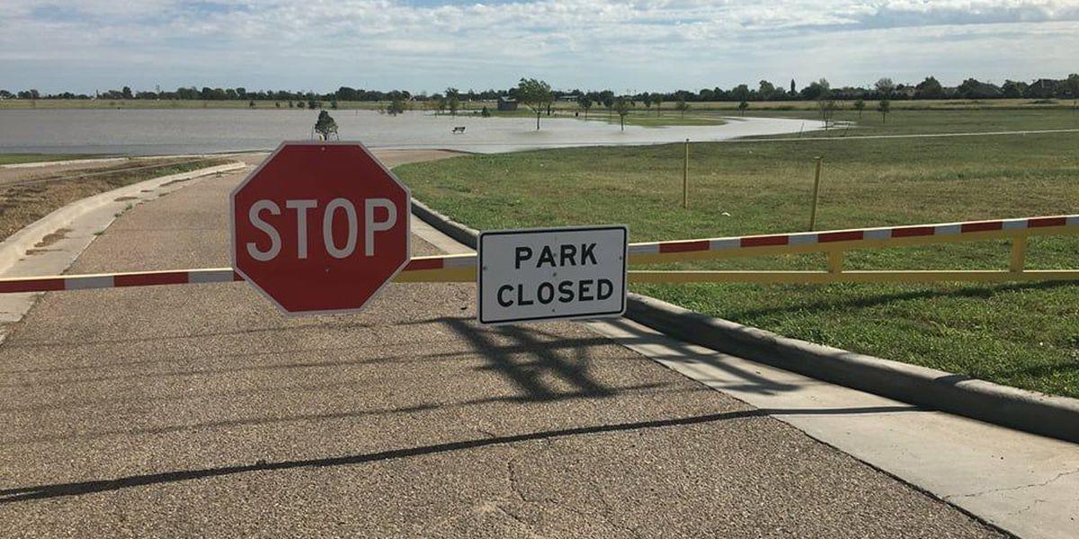 Increase in rainfall floods local playa lakes