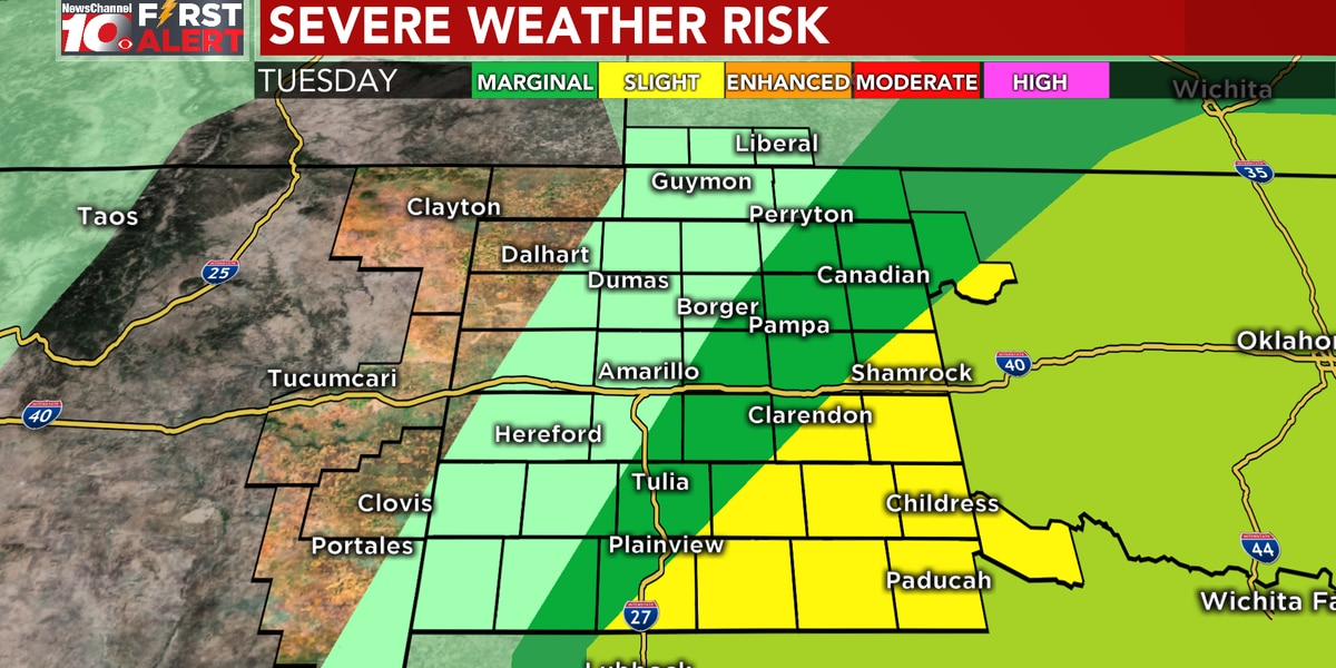 FIRST ALERT: Tracking possible severe weather this evening into Wednesday