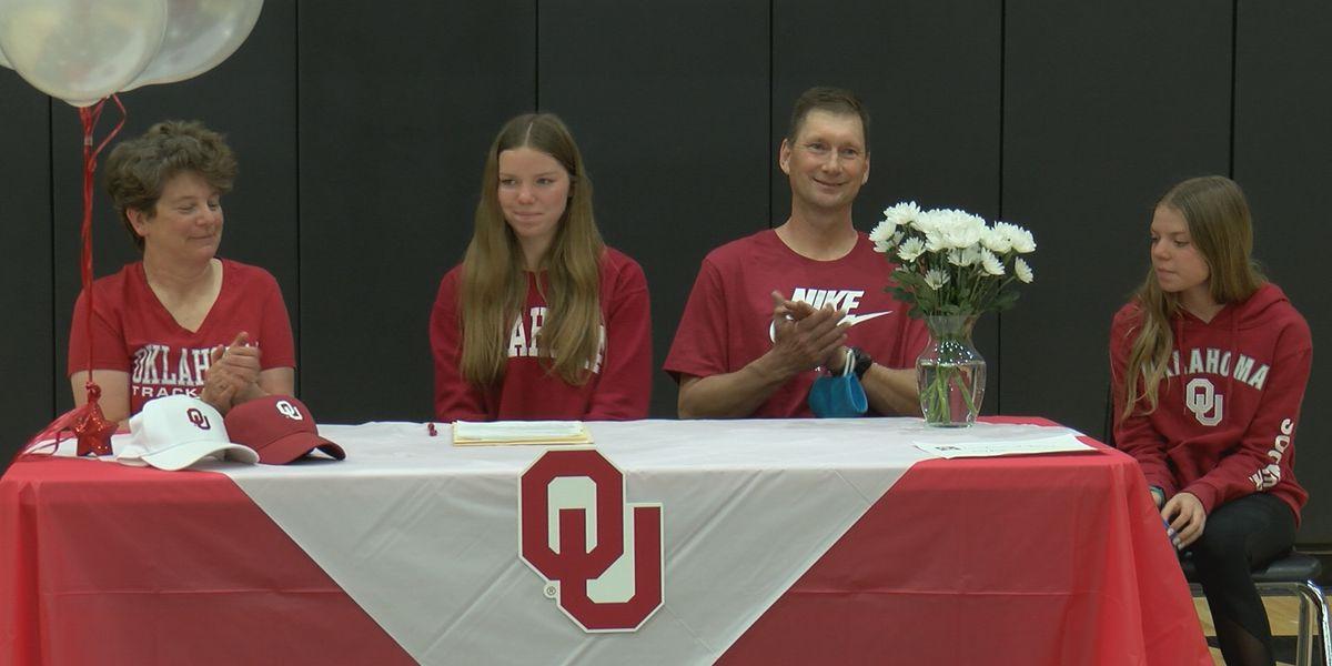 Randall pole vaulter Katy Bush signs as Oklahoma preferred walk-on