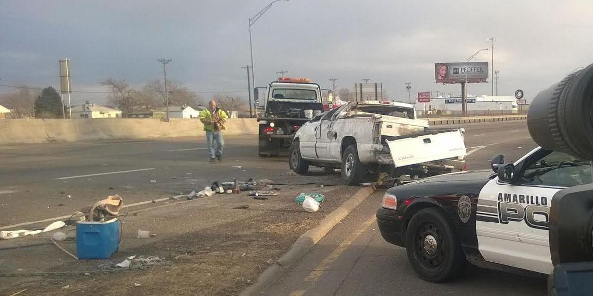 Single vehicle roll over on I-27