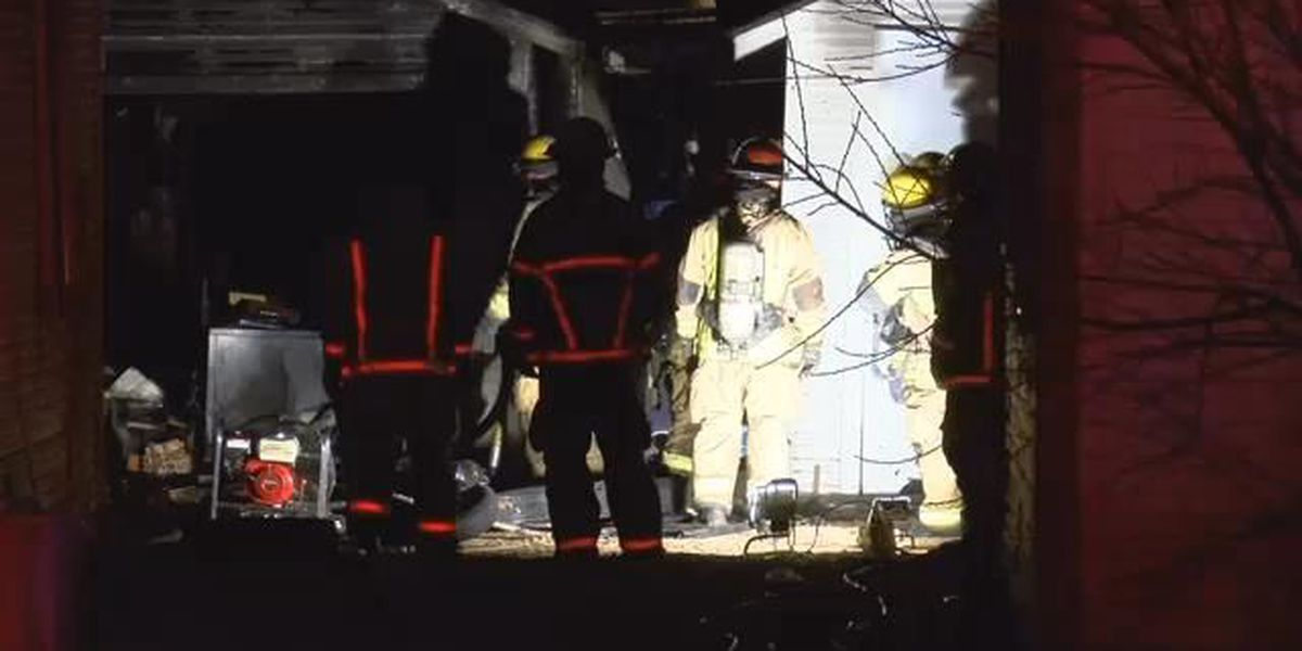 Detached garage fire early this morning