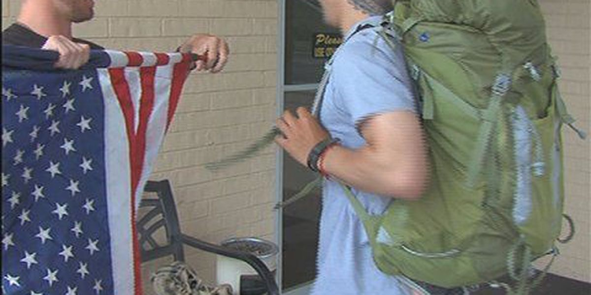 Former Marines walk cross country for wounded warrior awareness