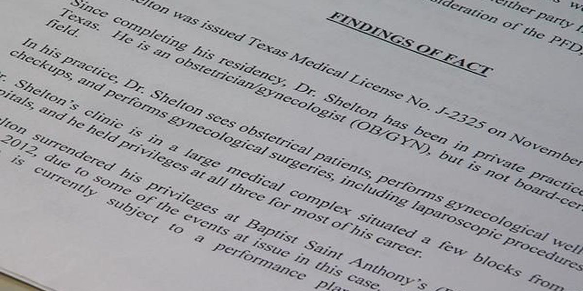 Amarillo doctor's medical license in jeopardy
