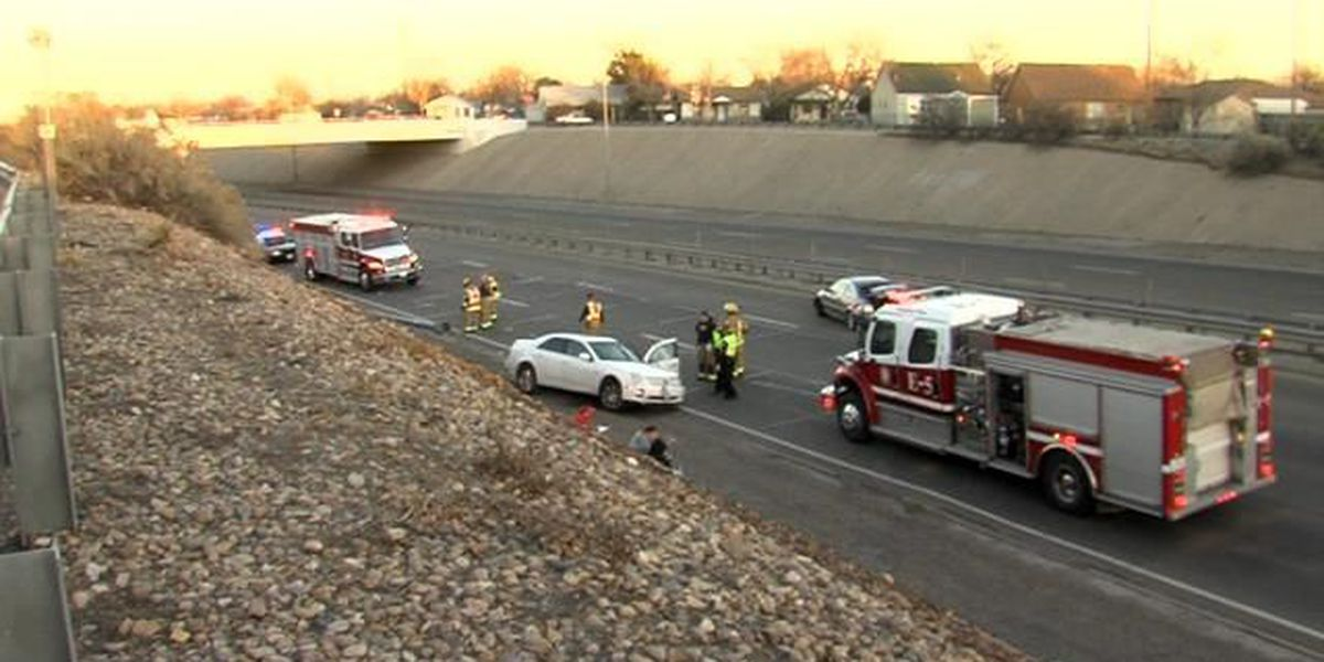 Wreck on I-27 sends one person to hospital